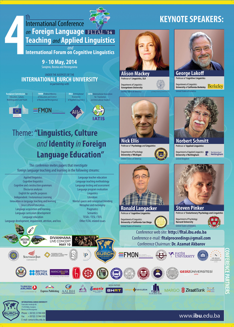 4th International Conference on Foreign Language Teaching and Applied Linguistics - International BURCH University Sarajevo | flresources | Scoop.it