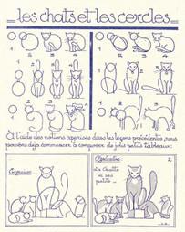 Comment dessiner les chats, apprendre à dessiner les animaux grâce à des formes simples   Dessin   Scoop.it
