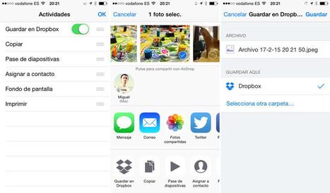 Ahora puedes guardar archivos en Dropbox directamente desde otras apps de iOS 8 | iPad classroom | Scoop.it