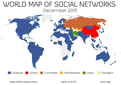World Map of Social Networks | World of #SEO, #SMM, #ContentMarketing, #DigitalMarketing | Scoop.it