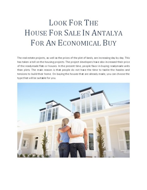 Look For The House For Sale In Antalya For An Economical Buy   Finance Land   Scoop.it