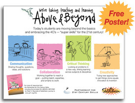 Above & Beyond the 4Cs (animation)- The Partnership for 21st Century Skills | iGeneration - 21st Century Education | Scoop.it