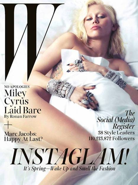 Miley Cyrus strips naked, smokes weed, talks to Ronan Farrow for the cover of W: 'I like that I'm associated with sexuality' | Miley C. | Scoop.it