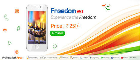 Freedom 251 - India's cheapest Android smartphone launched at Rs 251 | internet marketing | Scoop.it
