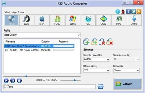 FSS Audio Converter, extrae el audio de los vídeos y convierte entre distintos formatos | Recull diari | Scoop.it