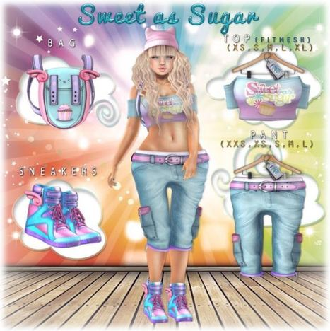 The Sweetest Sugar Complete Outfit - NessMarket | 亗 Second Life Freebies Addiction & More 亗 | Scoop.it