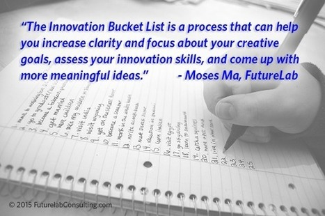 The Innovation Bucket List | Life and Psychology | Scoop.it