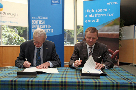 Heriot-Watt and Atkins sign MoU for high-speed rail research centre | Actualité ferroviaire internationale - International railway news | Scoop.it