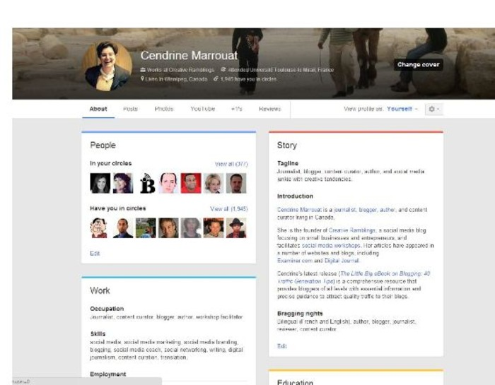 Google Plus pages and profiles get new design | Business in a Social Media World | Scoop.it
