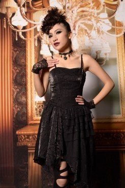 Robe Bustier Gothique Romantique Dentelle Noir   Manteaux et Vestes Femme Gothique-Pentagrammeshop   Scoop.it