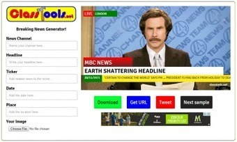 EdTool:  Breaking News Generator | Moodle and Web 2.0 | Scoop.it