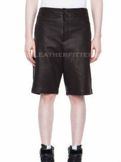 Men Leather Knee length Long Shorts | Leather Apparels World-Wide | Scoop.it