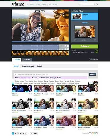 Vimeo Tool Makes it Easy to Add the Perfect 'Looks' to Videos | 3C Media Solutions | Scoop.it