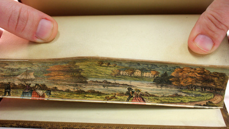 Fore-Edge Paintings: The Secret Works of Art Hidden Inside Book Pages | Strange days indeed... | Scoop.it