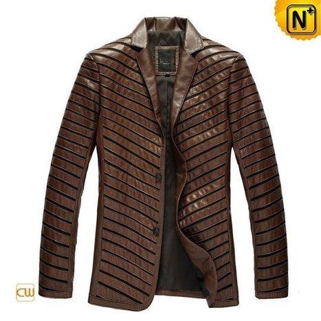 Mens Blazer Jacket Brown Leather Jacket CW880039 | Leather Blazer Jacket | Scoop.it