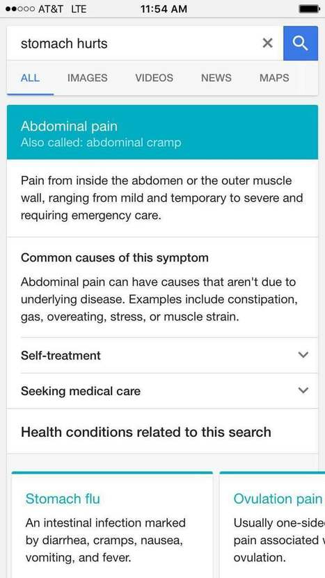 Why Google's Symptom Search Is Going to Revolutionize Healthcare | Health Care Social Media And Digital Health | Scoop.it