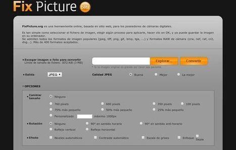 Fix Picture, utilidad web gratuita para convertir y editar tus fotos | Mestre, atreveix-te amb les TIC-TAC | Scoop.it