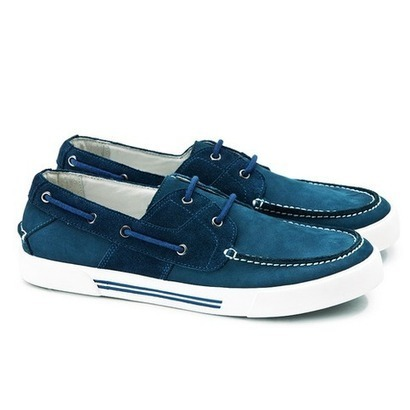 Stylish Blue contrast leather boat shoes for mens | personalized canvas messenger bags and backpack | Scoop.it