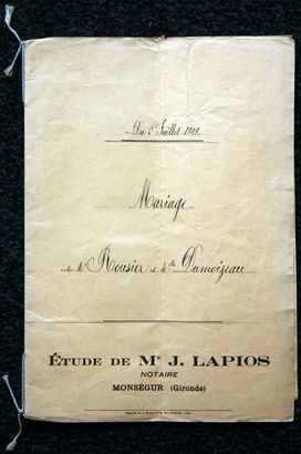 The French Genealogy Blog: Notarial Records - A Very Simple Marriage Contract | GenealoNet | Scoop.it