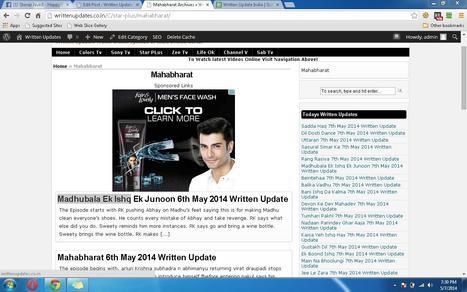 Written Updates » Written Updates of Indian Serial | Written Update India | Scoop.it