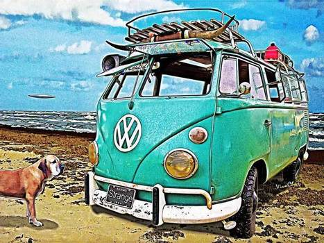 VW Surf Bus Strange Day at the Beach Surf Fishing | VivaChas!  Hot Rod Art | Scoop.it