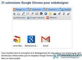 Sélection de 21 extensions Google Chrome pour webdesigner | #TRIC para los de LETRAS | Scoop.it