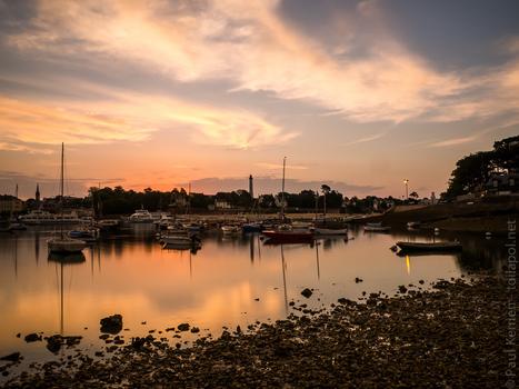 aube et crépuscule - photo en Finistère © Paul Kerrien - à Sainte-Marine / Combrit en face de Bénodet | photo en Bretagne - Finistère | Scoop.it