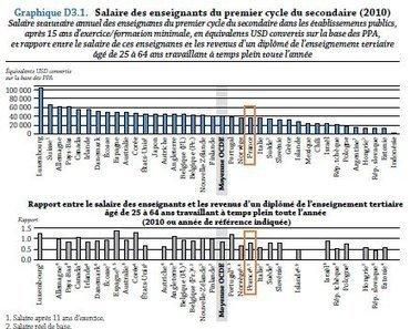 Salaire : Les professeurs français champions du monde de la perte de pouvoir d'achat | Education : on lâche rien! | Scoop.it
