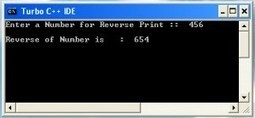 Program to Print Reverse of a Number in C++ - CodingTalks | izzathi | Scoop.it
