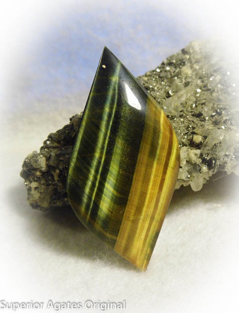Big Blue Tiger Eye Free Form Hand Cut Stone Rock Cab Cabochon for Wire Wrapping 5 | Wire Wrapped Jewelry | Scoop.it