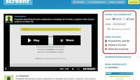 En la nube TIC: Screenr: captura la actividad de la pantalla de tu ordenador | El Content Curator Semanal | Scoop.it