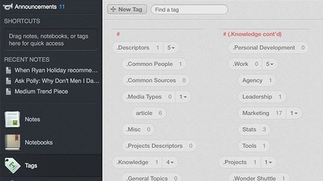 Organize Evernote with This Powerful Tagging System   Digital Literacies information sources   Scoop.it
