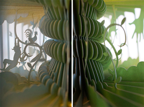 New #360° #Laser-Cut #Paper #Story #Books by Yusuke Oono. #art #sculpture | Luby Art | Scoop.it