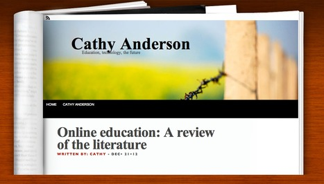 Online education: A review of the literature | Voices in the Feminine - Digital Delights | Scoop.it