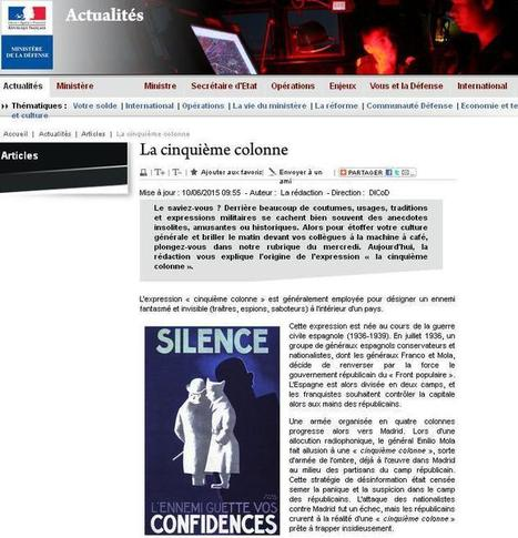 Article du jour (174) : La cinquième colonne | Au hasard | Scoop.it