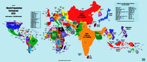 Une autre carte du monde ... | Coups de coeur - I Love it | Scoop.it
