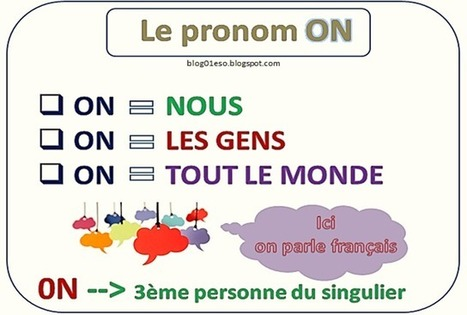 Le pronom ON | Education | Scoop.it