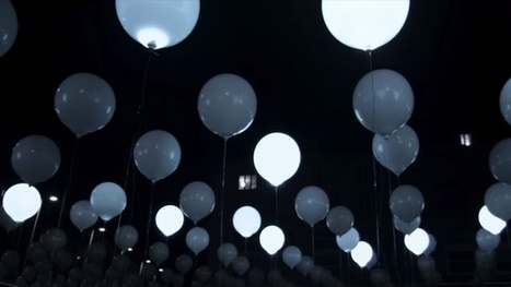 This Floating Sea Of LED Balloons Turns Music Into Dynamic Patterns | The Creators Project | interative artwork | Scoop.it