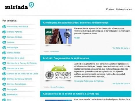 Miriadax, MOOCs en español de Universidades iberoamericanas [Cursos gratuitos Online] | Recull diari | Scoop.it