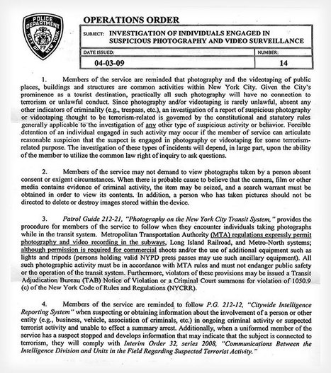 NYPD Memo Reminds Police Officers That Photography is Not a Crime | DJ.Womble Daily - Magazine | Scoop.it