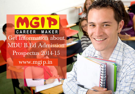 MDU B.Ed Admission Prospectus 2014 | MDU B.Ed Admission | Scoop.it