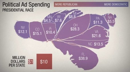 What Does The U.S. Look Like To Political Ad Buyers? [Infographic] | data visualization US Election | Scoop.it