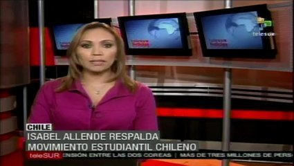 Isabel Allende respalda movimiento estudiantil chileno / Chile: 40 estudiantes cumplen 1 mes en huelga de hambre | Basta de Lucro | Scoop.it