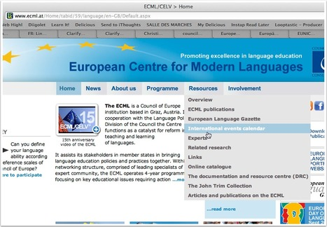 EN: LinguaCamp announcement on international events calendar of European Centre for Modern Languages | LinguaCamp | Scoop.it