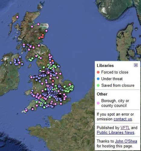 Voices for the Library » Closures map | BiblioLivre | Scoop.it