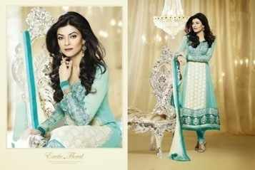 Sushmita Sen Indian Designer Anarkali Dresses 2014for women | Live Style Vogue | stylish lawn dresses | Scoop.it