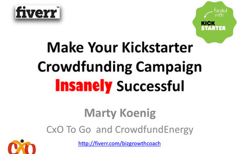 Make Your Kickstarter or Indiegogo Crowdfunding Campaign Insanely Successful | FrederickFlores | Scoop.it