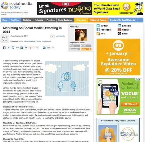 Marketing médias sociaux: Tweeter en 2014 | #TonUpdate | Médias sociaux (Twitter + Facebook) | Scoop.it