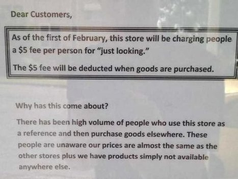 Stores Charges Customers $5 'Just Looking' Fee to Combat Showrooming   Exploring Current Issues   Scoop.it