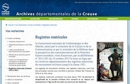 GénéInfos: Registres matricules : déjà 11 sites proposent ceux de 14-18 | GenealoNet | Scoop.it